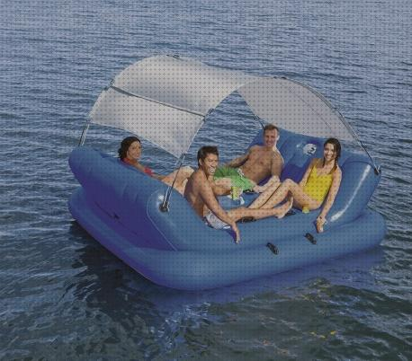 Review de islas isla de piscina con sombrilla hinchable