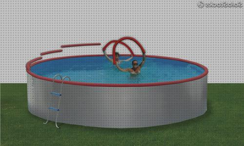 Review de 350 piscina desmontable de acero ovalada 350